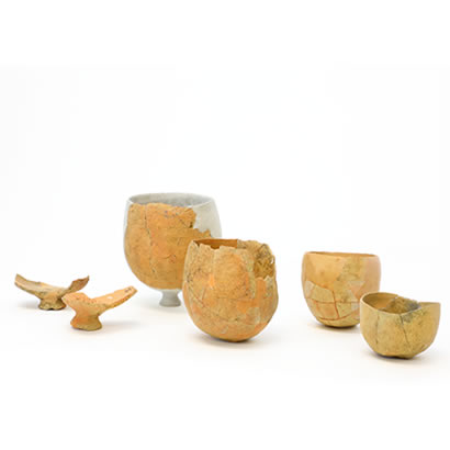 Hikino Archeological Site artifacts: Round-bottomed salt-making earthenware