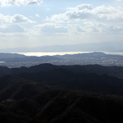 View from Mt. Senzan, also known as Awaji Fuji