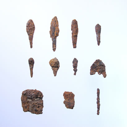 Gossakaito Archeological Site artifact: Iron implements