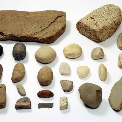 Gossakaito Archeological Site artifacts: Stone tools